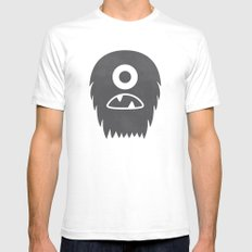 Know Your Hairymon White SMALL Mens Fitted Tee