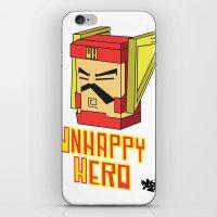 unhappy hero iPhone & iPod Skin