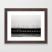 Chicago's Diversey Harbor Framed Art Print