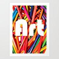 Pencil Art Art Print