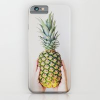 iPhone Cases featuring Simply Pineapple by Olivia Joy StClaire
