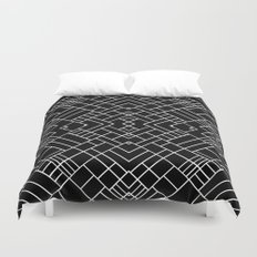 PS Grid 45 Black Duvet Cover