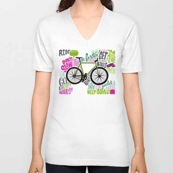 RIDE YOUR BIKES V-neck T-shirt