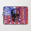 US Skull in a digital circuit. Laptop Sleeve