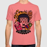 Imaginary Friends Mens Fitted Tee Pomegranate SMALL