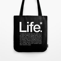 Life.* Available For A L… Tote Bag