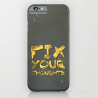 "iPhone & iPod Case featuring Phil 4:8 ""Fix your thoughts..."" by Pocket Fuel"