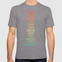 Life Lesson #5 Mens Fitted Tee Tri-Grey SMALL