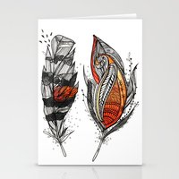 Sunset Feathers Stationery Cards