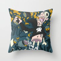 PLUG ME OUT Throw Pillow