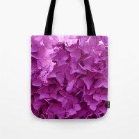 through the purple hydrangea Tote Bag