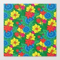 Vector Flowers Canvas Print