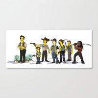 The Walking Dead cast Canvas Print