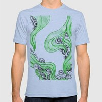 FANTASIA VERDE Mens Fitted Tee Athletic Blue SMALL