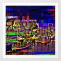 In the port Art Print