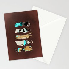 Epic Rock Paper Scissors Battle Stationery Cards