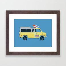 Galactic Pizza Van Framed Art Print