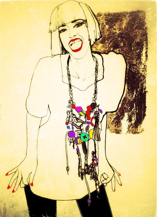 grit & glamour Art Print