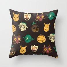 Pattern Of Masks.  Throw Pillow