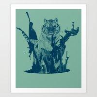 Paint Tiger Art Print