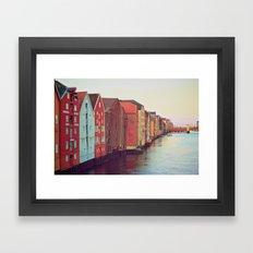 Trondheim, Norway Framed Art Print
