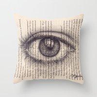 Eye in a Book Throw Pillow