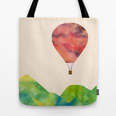 Sunset balloon Tote Bag