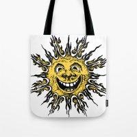 sun face - original yellow Tote Bag
