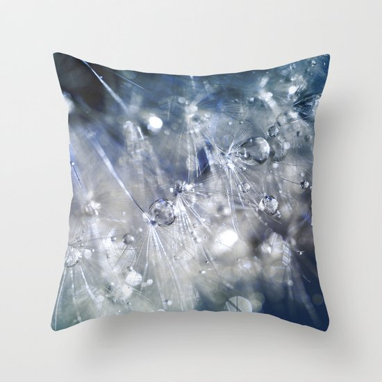 New Year's Blue Champagne Throw Pillow