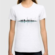 Music City Womens Fitted Tee Ash Grey LARGE