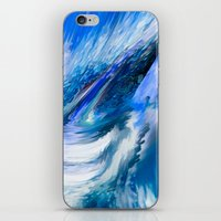 Rapture In Blue   Abstra… iPhone & iPod Skin