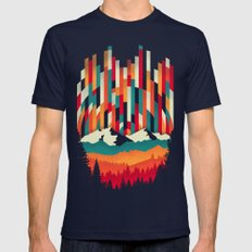 Sunset In Vertical Multi… Mens Fitted Tee Navy SMALL