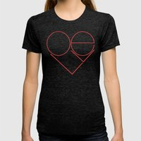 MODERN LOVE Womens Fitted Tee Tri-Black SMALL