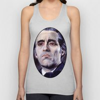 Christopher Lee as Dracula: He is the embodiment of all that is evil. Unisex Tank Top