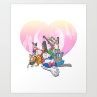 Sailor Kitties Art Print