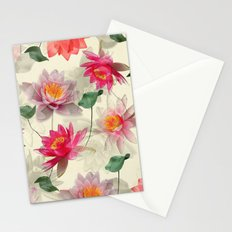 Lotus Flower Pattern Stationery Cards