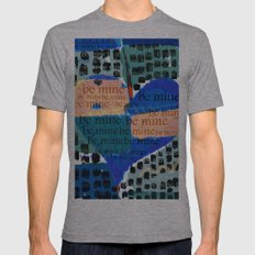Be Mine-- Mens Fitted Tee Athletic Grey SMALL