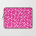Control Your Game - White on Pink Laptop Sleeve
