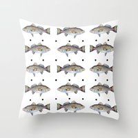 Trout Throw Pillow
