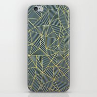 Ab Lines Gold and Navy iPhone & iPod Skin