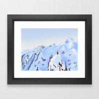Winter Flight - Drawing 2 Framed Art Print