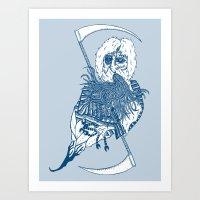 Killer Beard Brah! Art Print