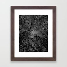 Atlanta map Georgia Framed Art Print