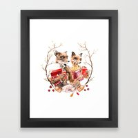 The Fantastic Foxes Framed Art Print