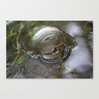 Glass in the Water Canvas Print