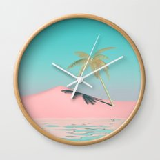 Palm Tree Oasis Wall Clock