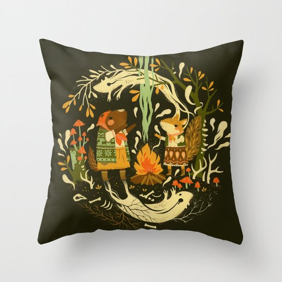 Animal Chants & Forest Whispers Throw Pillow