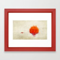 The Fisherman And His Bo… Framed Art Print
