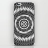 Monochrome Rings iPhone & iPod Skin