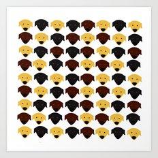 Labrador dog pattern Art Print